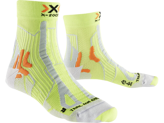 X-Socks Trail Run Energy Chaussettes Homme, green lime/pearl grey